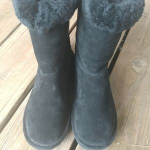 Michael Kors Winter Mid Boots Suede Shearling MK L